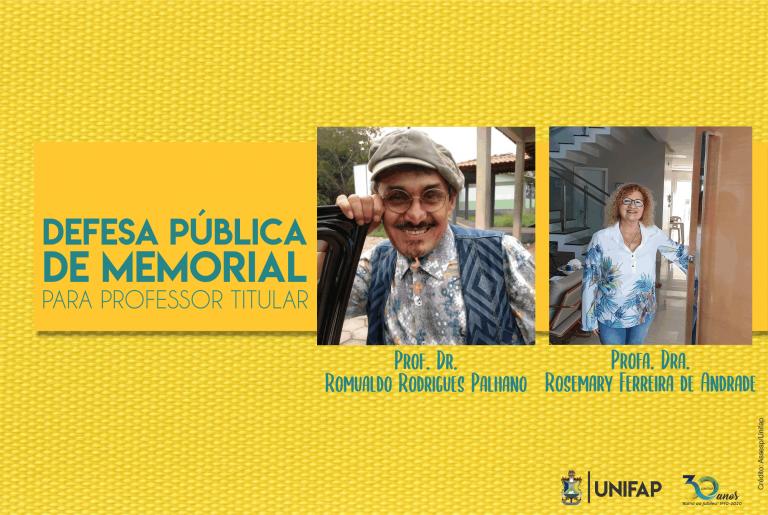 UNIFAP realiza defesa pública de memorial para Professor Titular