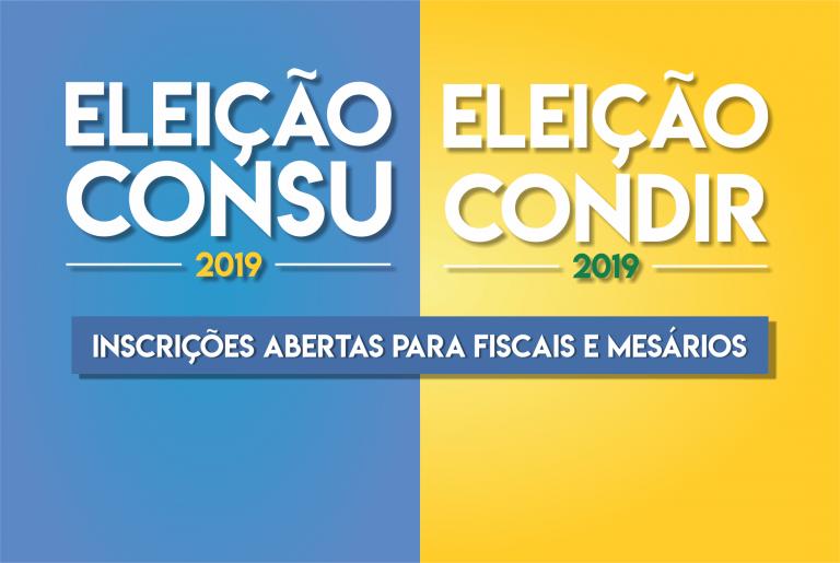 Inscrições de fiscais e mesários das Eleições do CONSU terminam amanhã