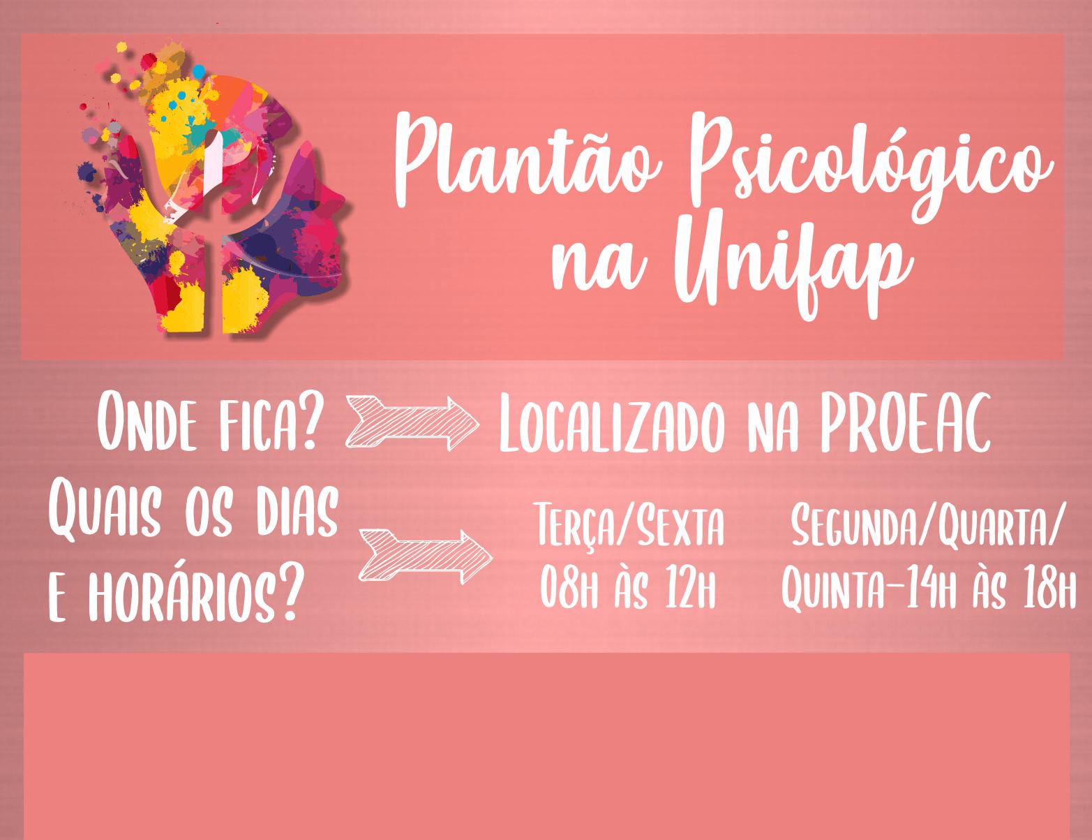 Departamento de Saúde da UNIFAP oferece Plantão Psicológico