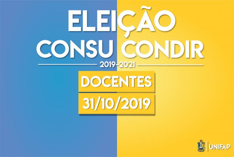 Eleições para docente CONSU/CONDIR será dia 31 de outubro
