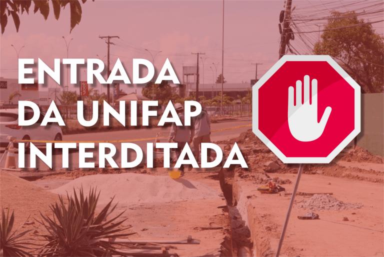 Portões de acesso à UNIFAP seguem interditados