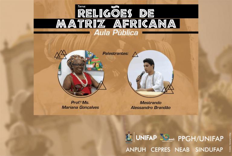 Aula pública abordará história das religiões de matriz Africana no Amapá