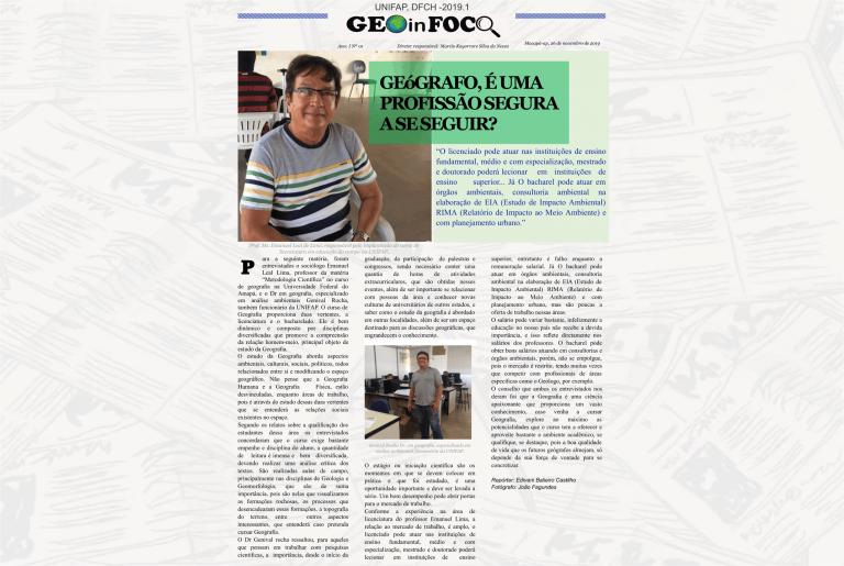 Curso de Geografia produz jornal acadêmico sobre a Universidade