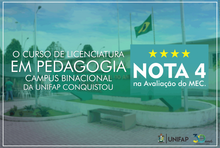 Curso de Pedagogia do Campus Oiapoque recebe nota 4 no MEC