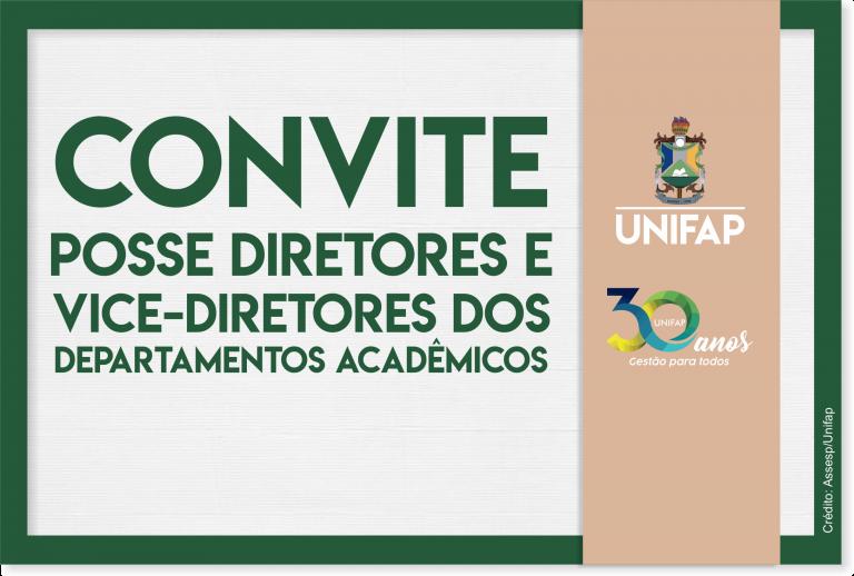 Reitor da UNIFAP empossará novas diretorias de Departamentos