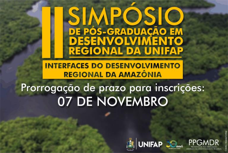 Prorrogadas inscrições para 2º Simpósio do Mestrado em Desenvolvimento Regional