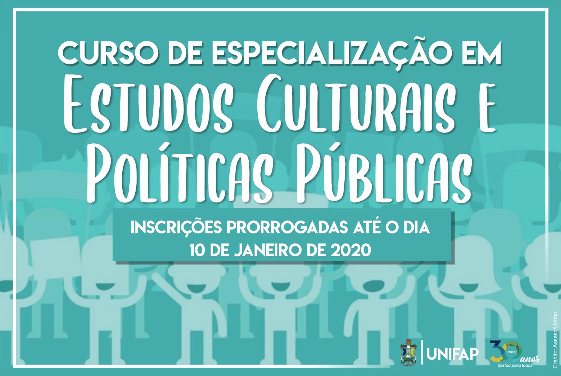 Especialização em Estudos Culturais e Políticas Públicas prorroga inscrições