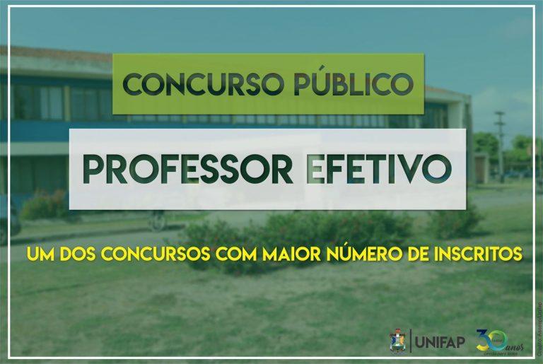 Concurso para Professor Efetivo registra maior número de inscritos; 972 candidatos
