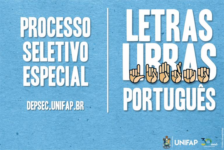 Inscrições para PS de Licenciatura em Libras iniciam no dia 13 de janeiro