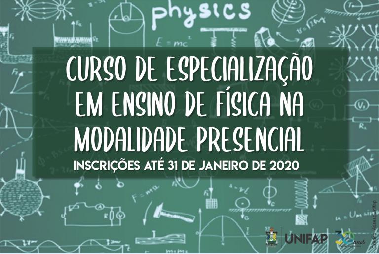 Especialização em ensino de física oferece 20 vagas.