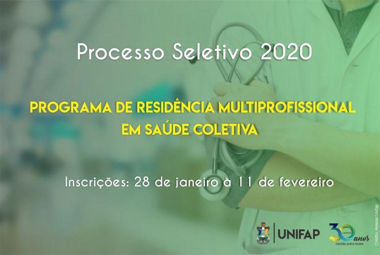 Programa de Pós-Graduação de Residência em Saúde Coletiva seleciona candidatos