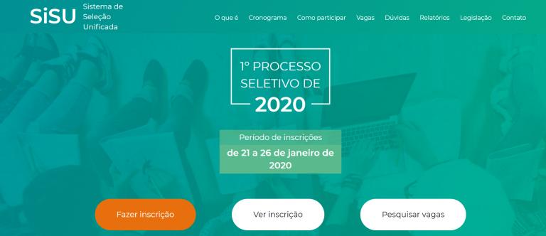 Sisu registra mais de 800 mil inscrições no primeiro dia