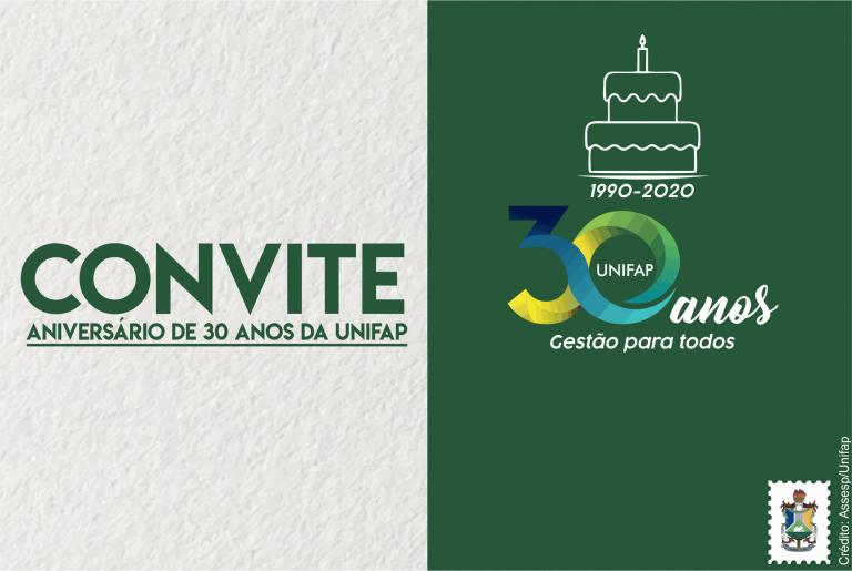 UNIFAP celebra 30 anos, com início da programação especial de aniversário