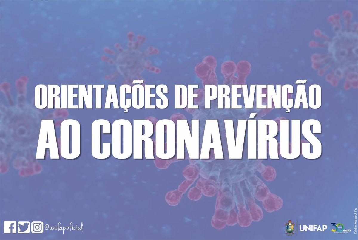 Comunicado à comunidade acadêmica sobre medidas de prevenção referente ao novo coronavírus (Covid-19)