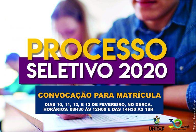 Convocação para matrícula dos aprovados no PS 2020 – Chamada Regular