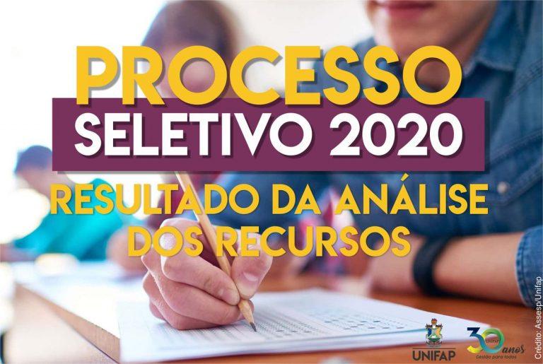 Aviso – Resultado da análise dos recursos administrativos – PS 2020