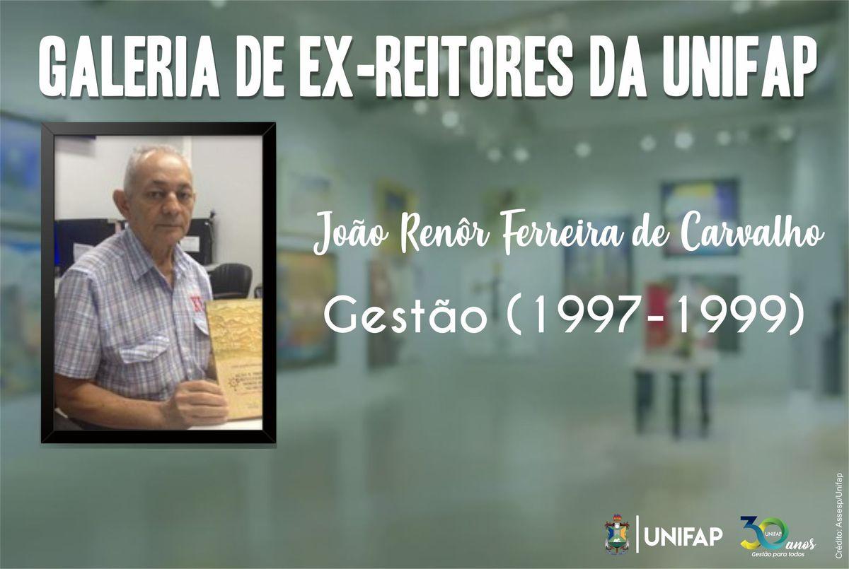 Professor João Renôr foi o quarto reitor da UNIFAP, conheça sua trajetória