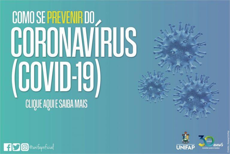 Orientações de prevenção ao Coronavírus (Covid-19)