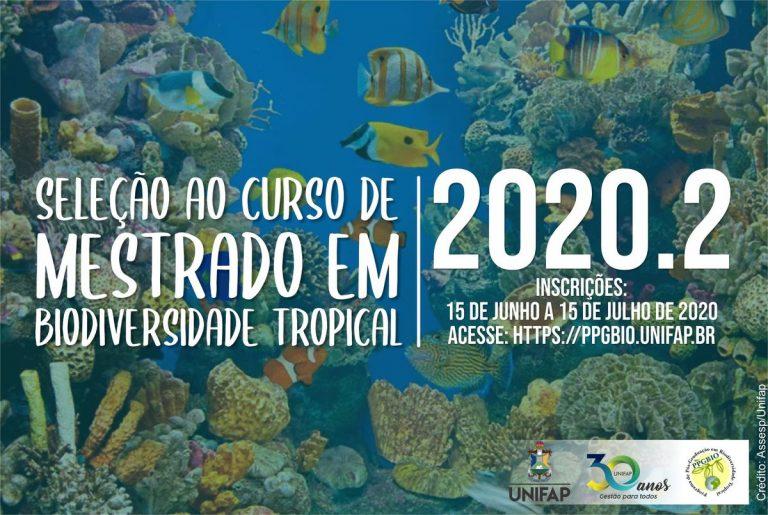 Mestrado em Biodiversidade Tropical recebe inscrições online até 15 de julho