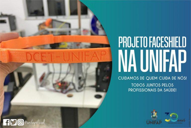 Comissão da UNIFAP entrega protetores faciais para o TJAP e IAPEN