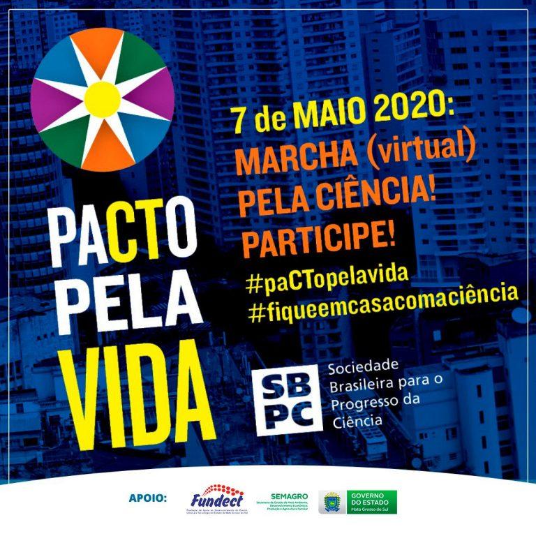 SBPC promove marcha virtual em defesa da Ciência no Brasil