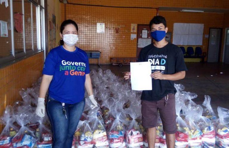 DCE entrega cestas básicas para estudantes em vulnerabilidade social