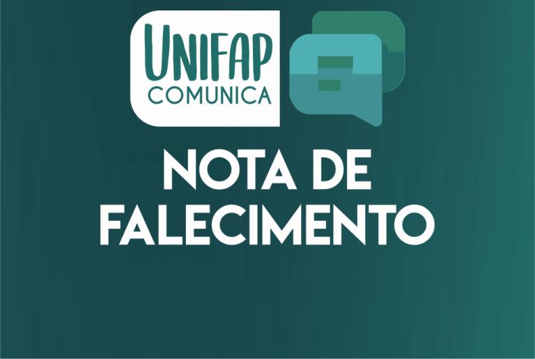 Nota de pesar pelo falecimento do ex-reitor da UNIFAP, Prof. João Brazão Neto