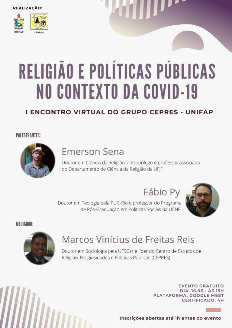 Encontro virtual debate Religião e Políticas Públicas no contexto da COVID-19