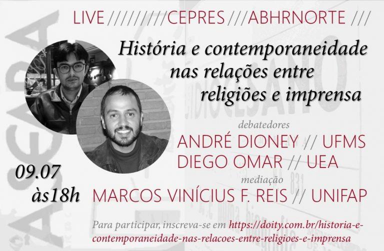 Abertas inscrições para live do CEPRES sobre relações entre religiões e imprensa