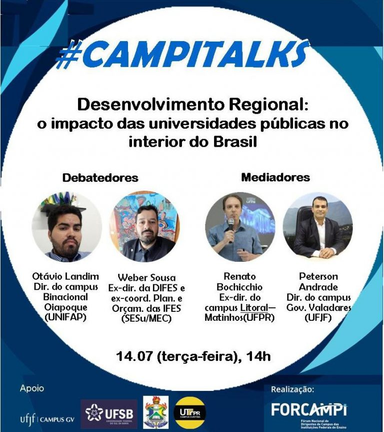 #CampiTalks traz debate virtual sobre atuação dos Campi federais do país