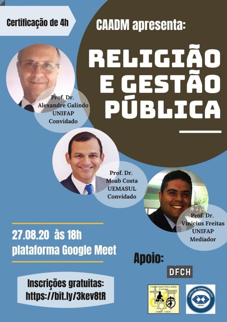 Grupo CEPRES e CAADM promovem evento sobre 'Religião e Gestão Pública'