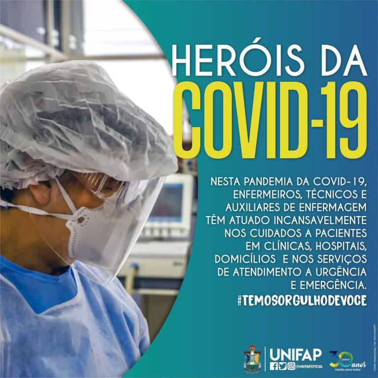 """Ação """"Heróis da COVID-19"""" presta homenagem aos profissionais da Enfermagem"""