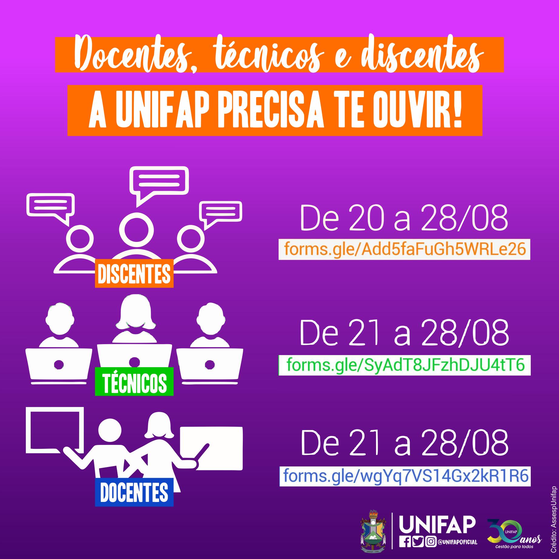 Comissão Especial da UNIFAP lança questionários a acadêmicos, técnicos e docentes