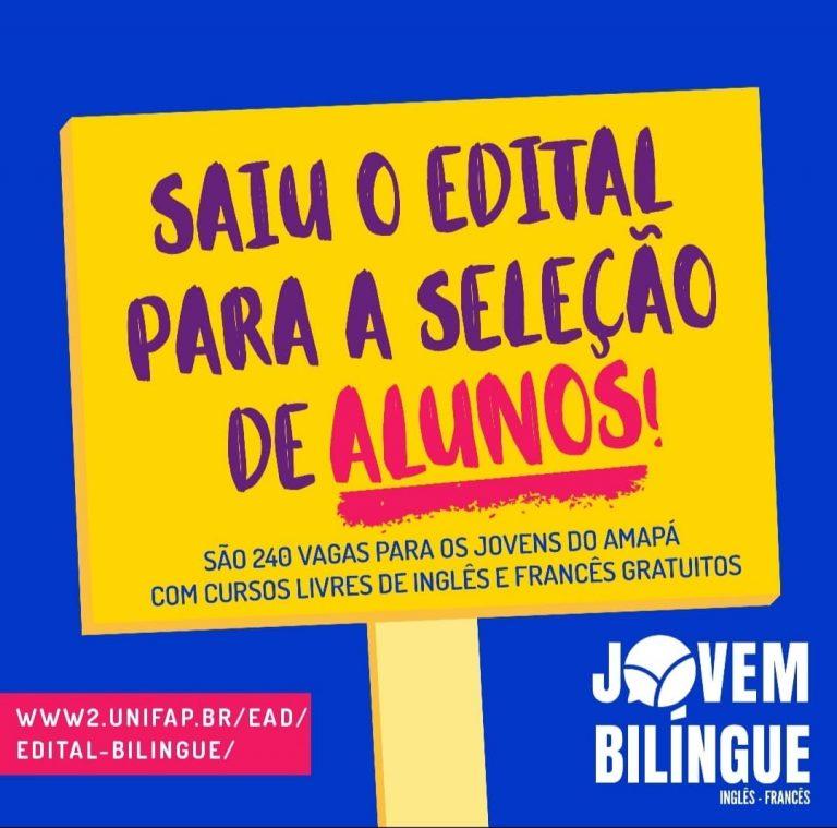 """Projeto """"Jovem Bilíngue"""" abre seleção com 240 vagas para inglês e francês"""