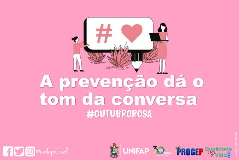 UNIFAP promove ações do 'Outubro Rosa' pelo WhatsApp
