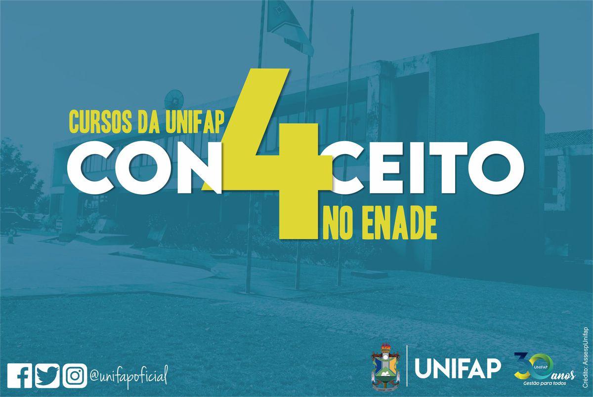 Cursos da UNIFAP alcançam nota 4 no ENADE
