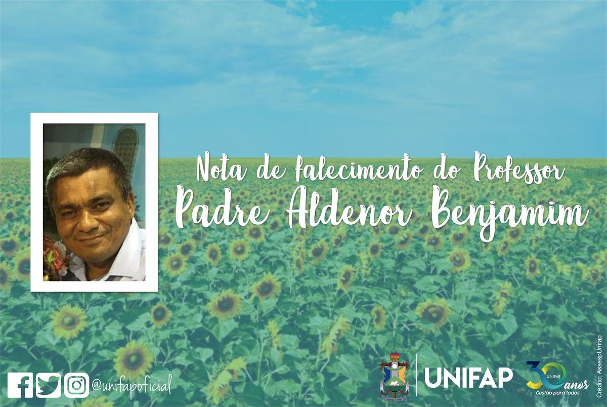 Nota de pesar pelo falecimento do Prof. Padre Aldenor Benjamim