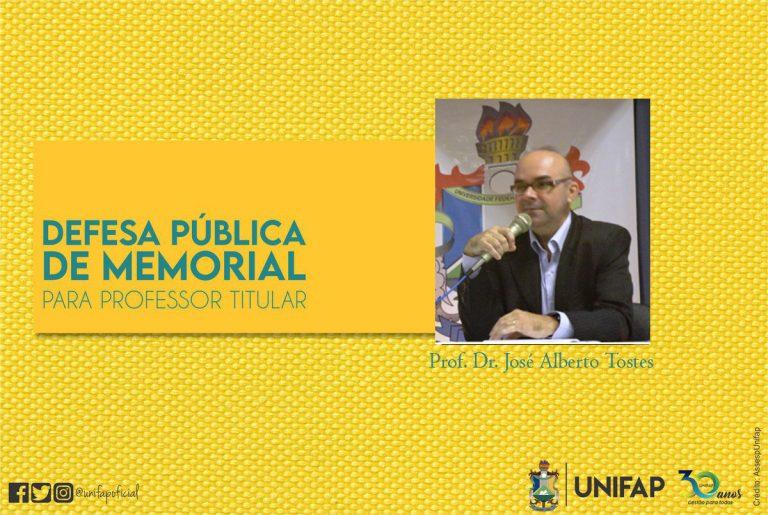 Docente de Arquitetura e Urbanismo defenderá memorial para Professor Titular