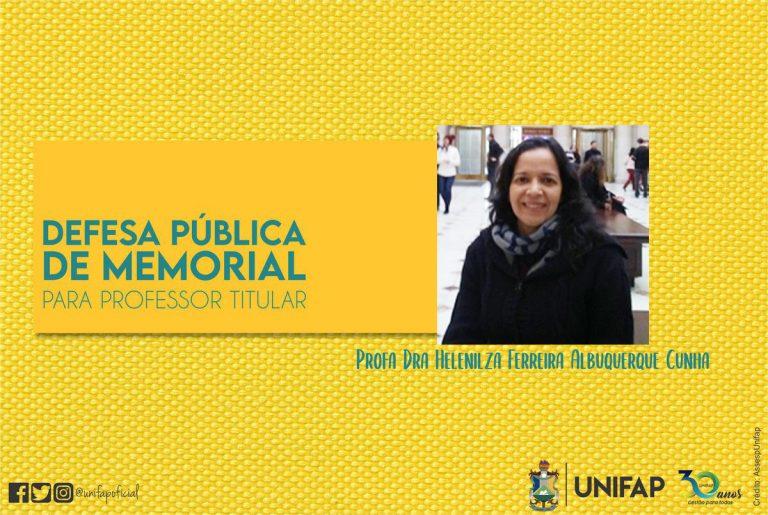 Docente de Ciências Ambientais defenderá memorial para Professor Titular, dia 20/11