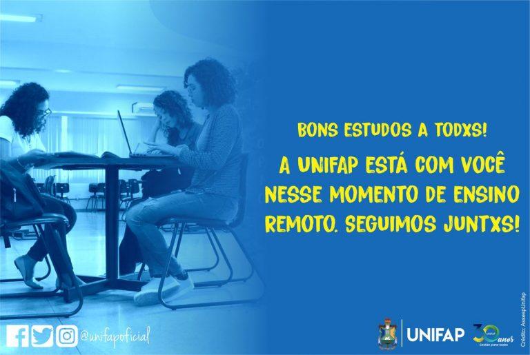 UNIFAP reinicia Calendário Acadêmico Suplementar 2020.3 com aulas remotas