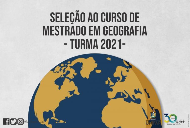 UNIFAP lança edital de seleção para o Mestrado em Geografia 2021
