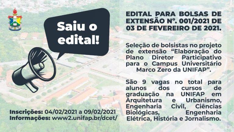 Edital oferece bolsas destinado para alunos de Arquitetura e Urbanismo, Engenharia, Biológica, História e Jornalismo.