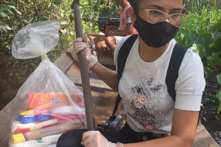 Estudante da Unifap organiza assistência solidária em Laranjal do Jari