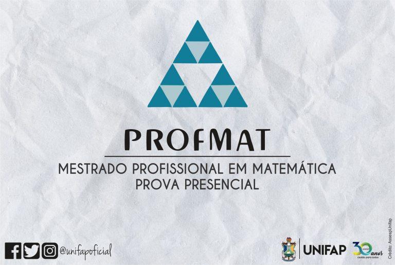 Prova do PROFMAT ocorre neste sábado, 20, em formato presencial
