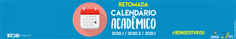 Retomada do calendário acadêmico 2020.1 ocorre no dia 12 de abril