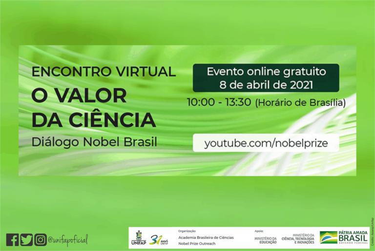 """Encontro virtual """"O VALOR DA CIÊNCIA"""""""