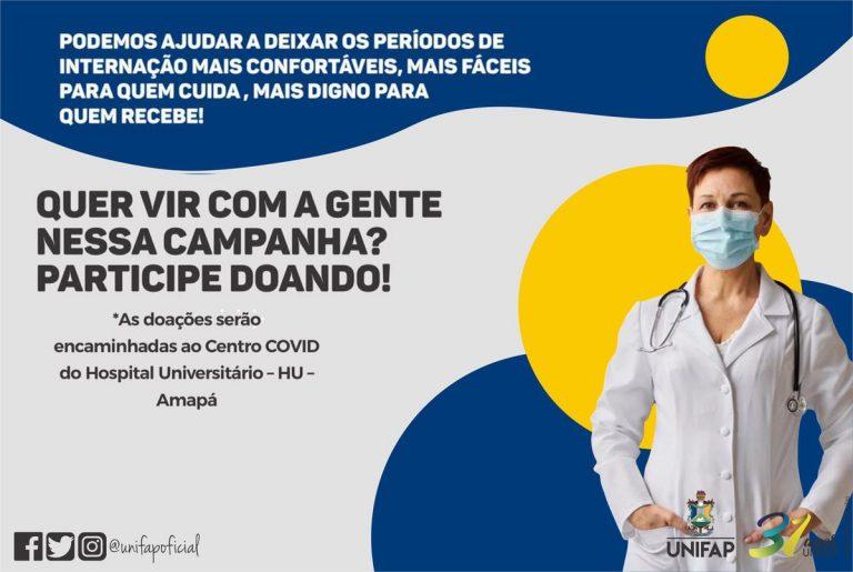 Campanha promovida pelo Grupo REAC da UNIFAP visa arrecadar produtos para pacientes internados com Covid-19