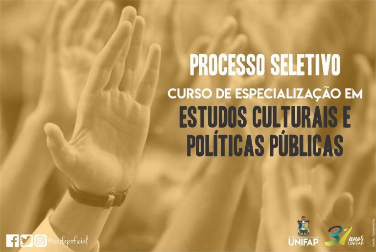 Abertas inscrições para o Curso de Especialização em Estudos Culturais e Políticas Públicas