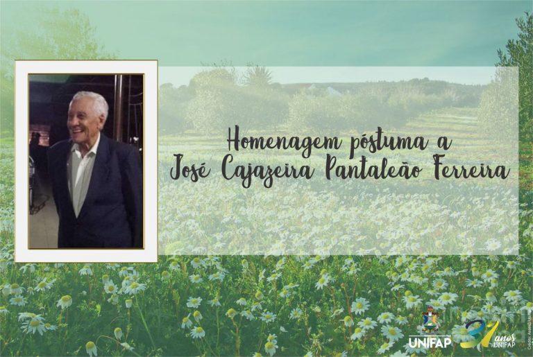 Nota de pesar pelo falecimento do Sr. José Cajazeira Ferreira