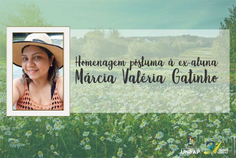 Nota de pesar pelo falecimento de Márcia Gatinho